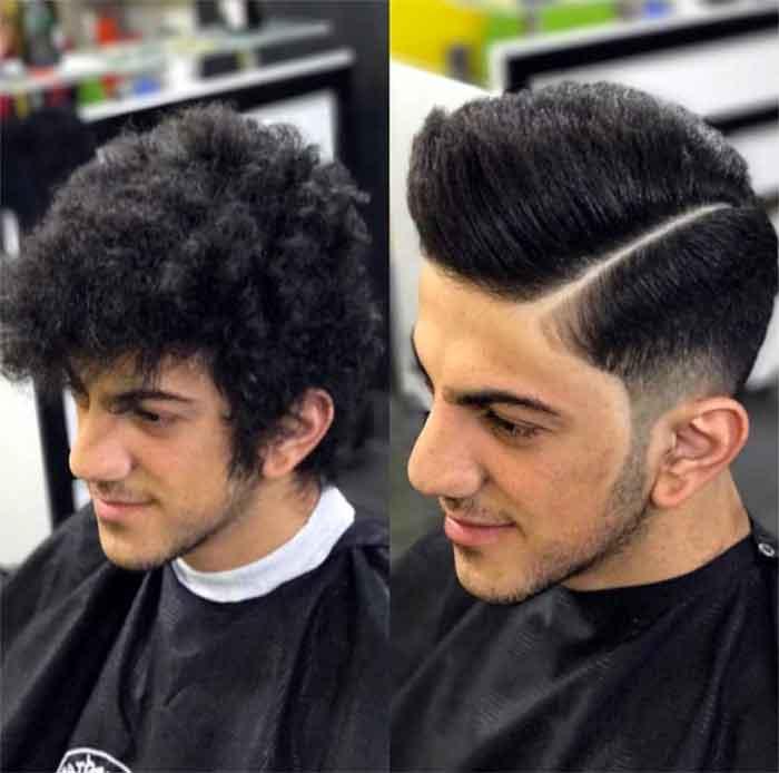 کراتینه و صافی موی مردانه